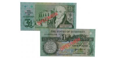NEW £1 B. Haines signatory Guernsey Bank Note (AA Prefix)