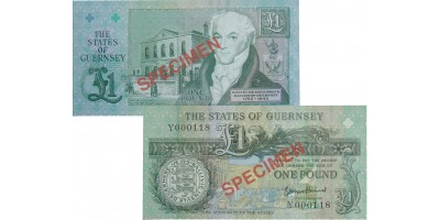 £1 B. Haines signatory Guernsey Bank Note (Y Prefix)