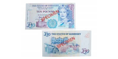 £10 B. Haines signatory Guernsey Bank Note (F Prefix)