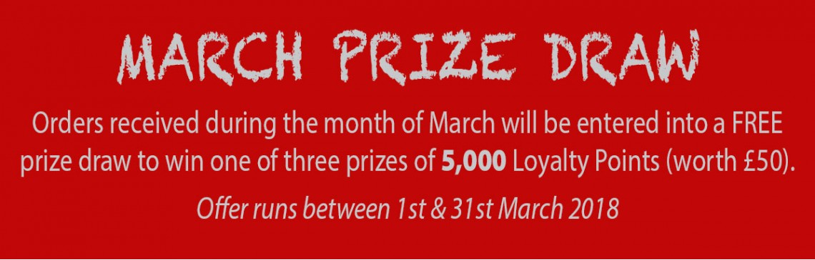Loyalty Point March Prize Draw