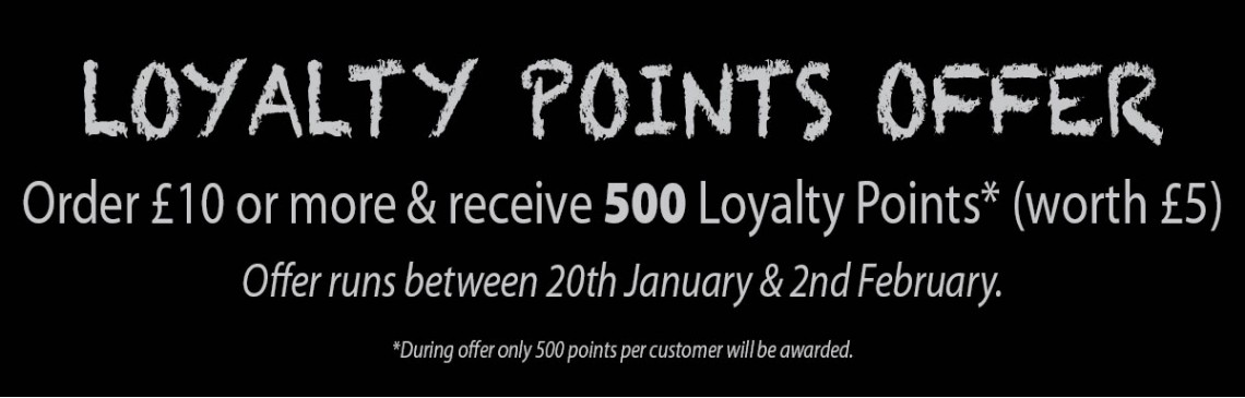 January 2018 Loyalty Point Offer