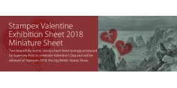 Stampex Valentine Exhibition Sheet 2018