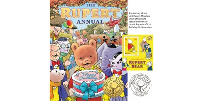 Rupert 100th Anniversary Annual with Miniature Sheet