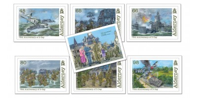 D-Day Set of 7 Postcards