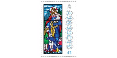 42p Stamp Anne French Stained Glass Windows