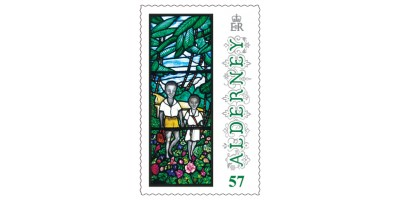 57p Stamp Anne French Stained Glass Windows