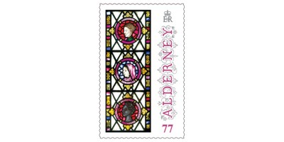 77p Stamp Anne French Stained Glass Windows