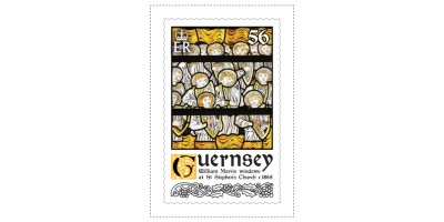 56p Stamp William Morris Stained Glass Windows
