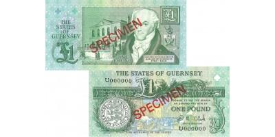 £1 D.M. Clark signatory Guernsey Bank Note