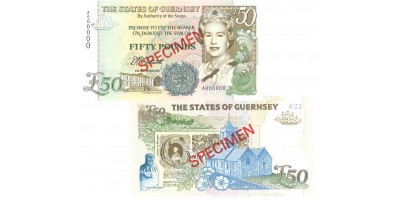 £50 D.P.Trestain signatory Guernsey Bank Note
