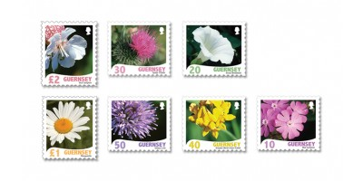 Set of 7 stamps 10, 20, 30, 40, 50, £1, £2