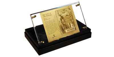 The Life of Ian Fleming - Gold Replica Miniature sheet