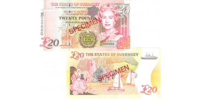 £20 Diamond Jubilee Guernsey Bank Note - B. Haines signatory