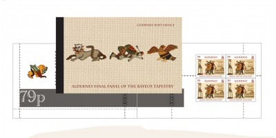 Alderney Final Panel of the Bayeux Tapestry Prestige Booklet