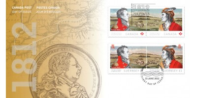 Official Joint First Day Cover (Guernsey & Canada stamps)