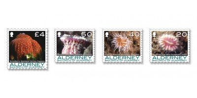 Set of four stamps £4, 50p, 40p, 20p