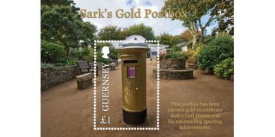 Sark's Gold Postbox Miniature Sheet