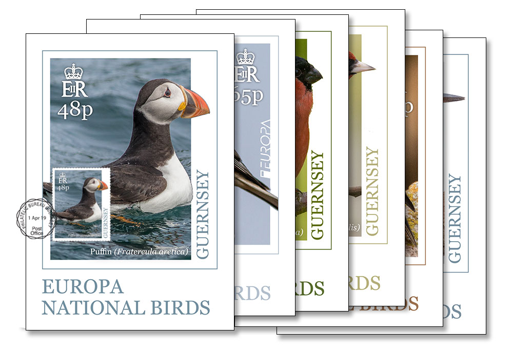 Maxi Europa Birds Postcards Set of 6