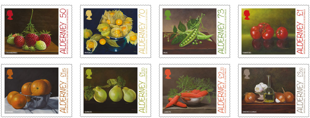 Stamps recognise United Nations' International Year of Fruits and Vegetables