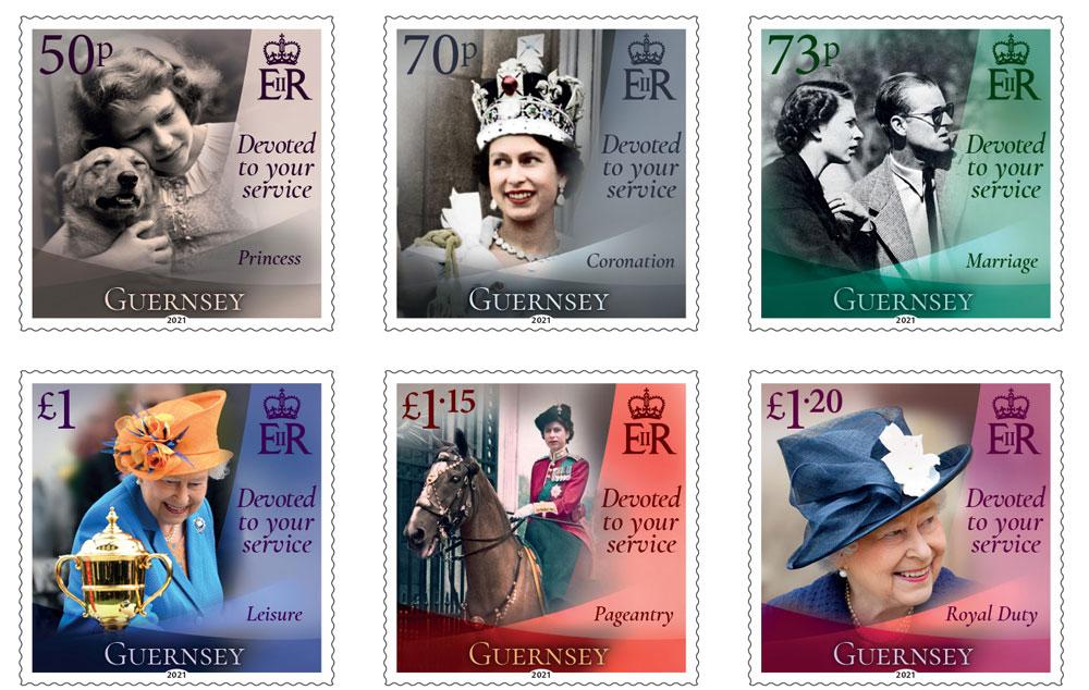 根西岛4月21日发行伊丽莎白二世女王九十五岁生日邮票