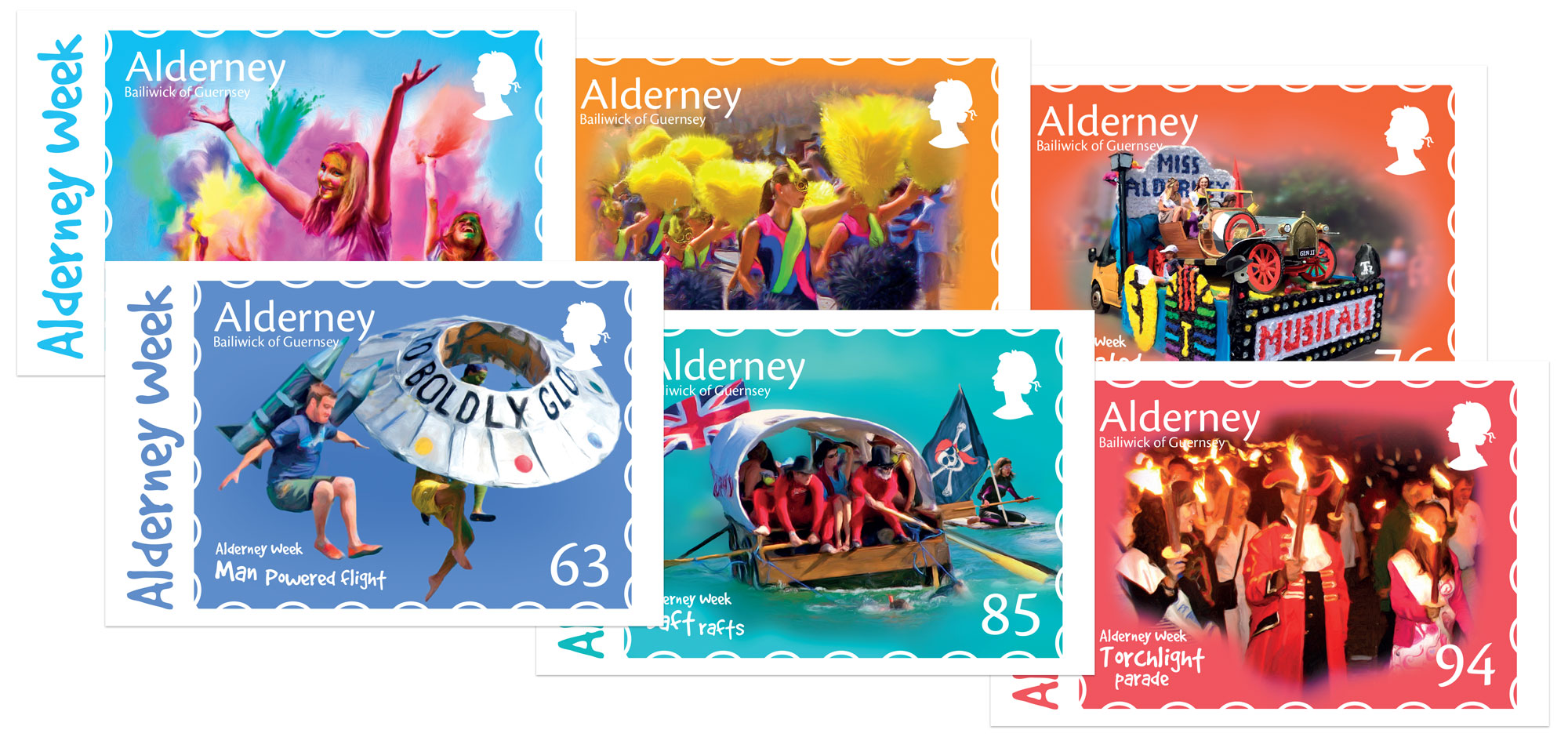 Alderney Week Postcards