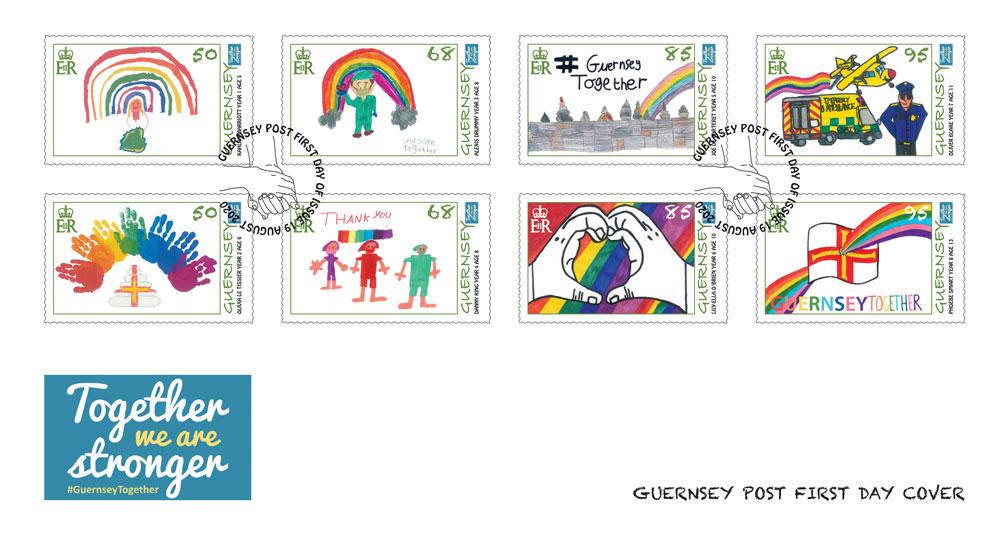 根西岛8月19日发行根西在一起邮票