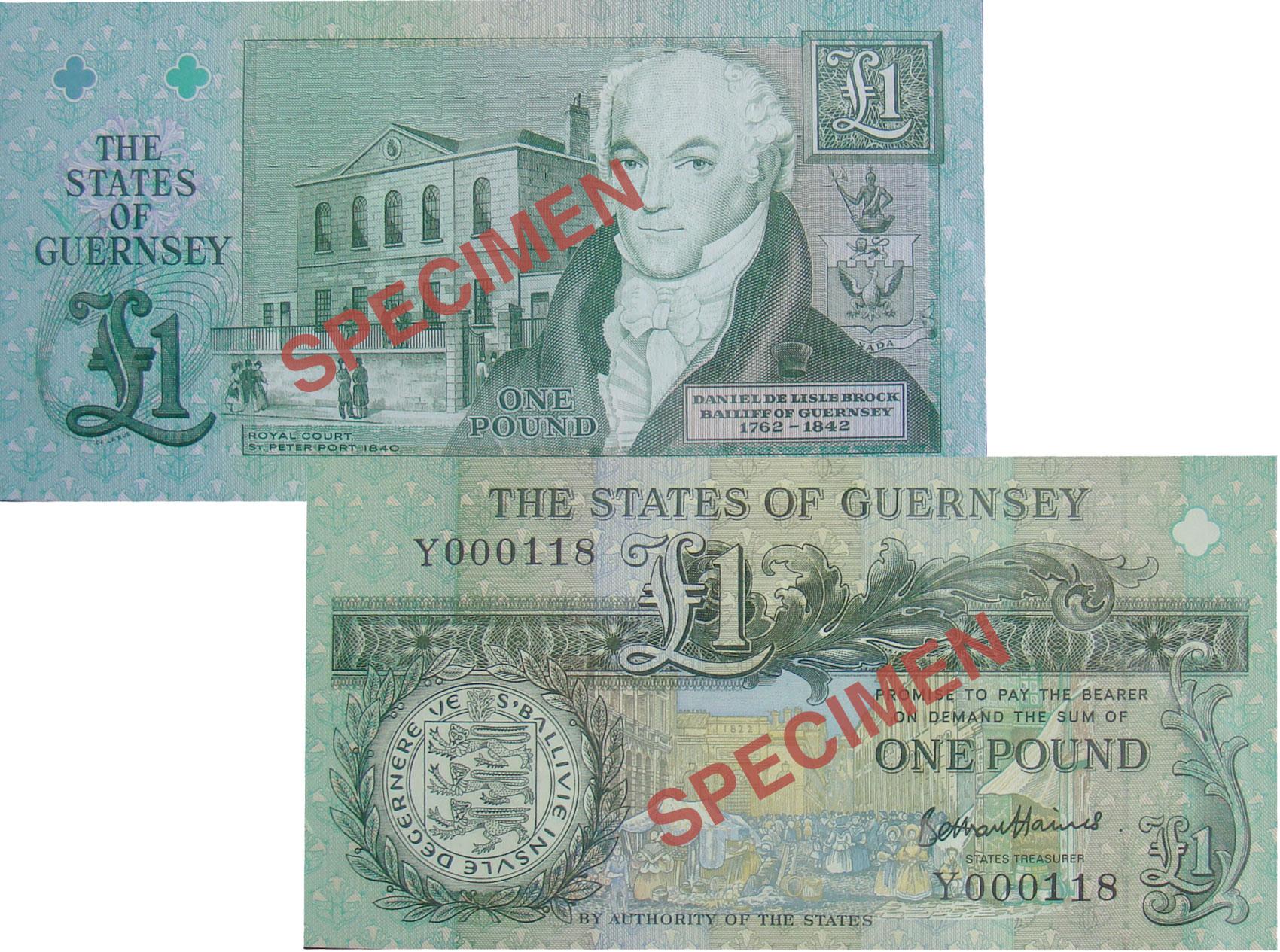 £1 B. Haines signatory Guernsey Bank Note (Y Prefix)