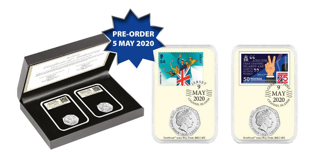 75th Anniversary: Liberation C.I 50p Coin Set