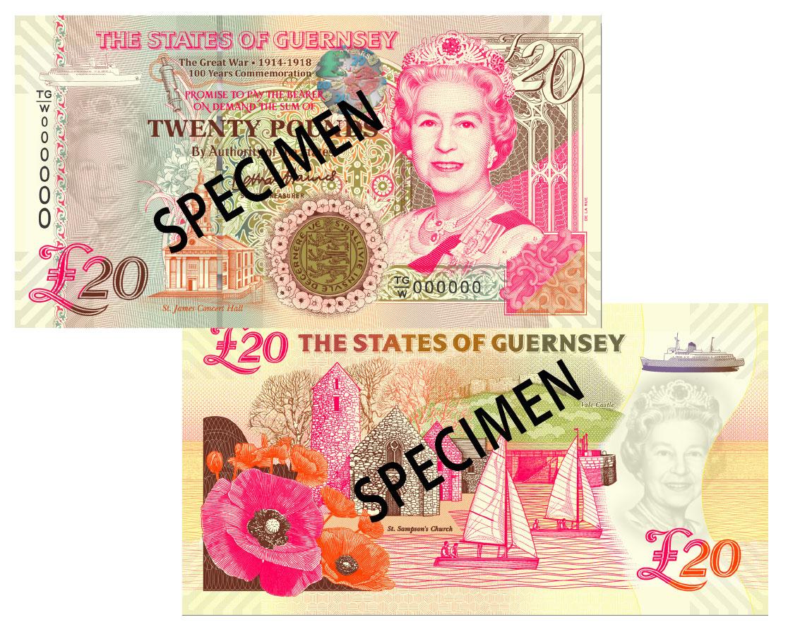 NEW £20 'TGW' Prefix - B. Haines signatory Guernsey Bank Note