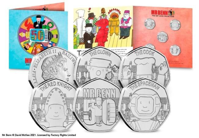Mr Benn 50p Coin Set