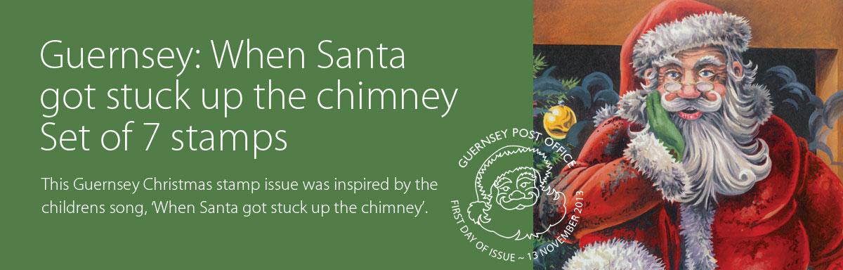 When Santa got stuck up the chimney