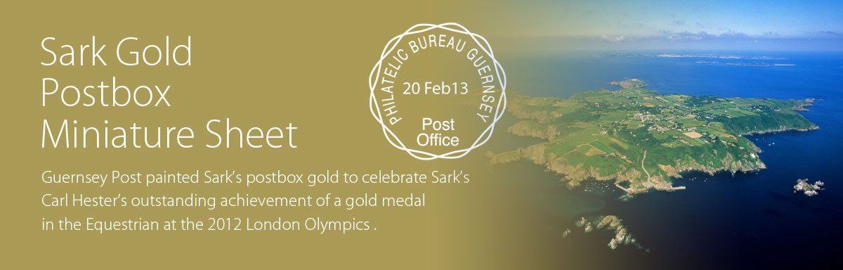 Sarks Gold Postbox