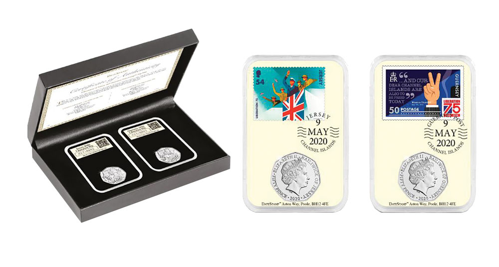 75th Anniversary: Liberation C.I 50p Coin Set