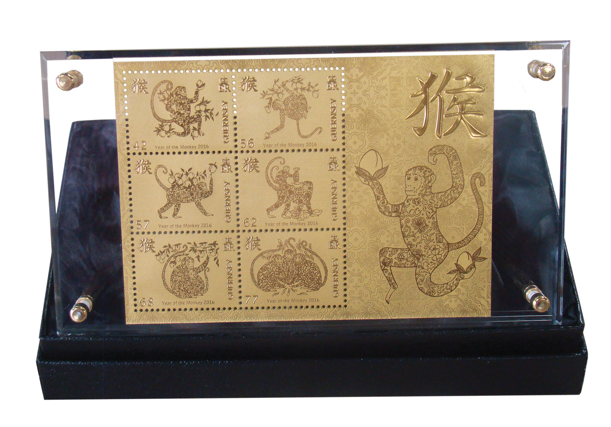 Year of the Monkey Limited Edition Gold Souvenir Sheet