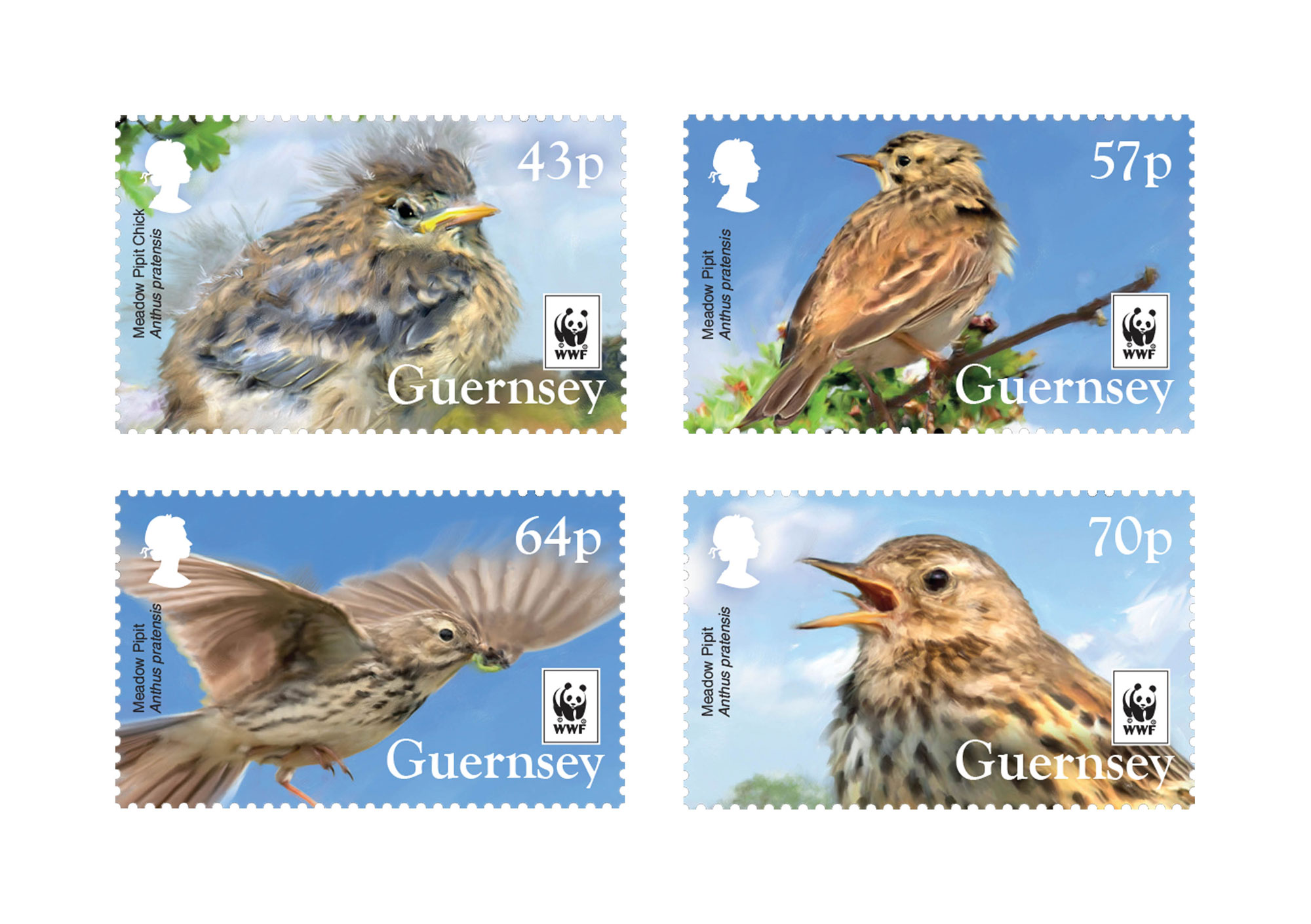 Set of 4 Stamps