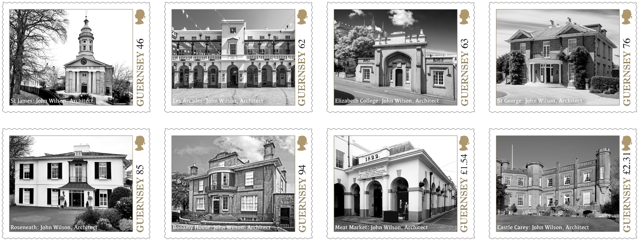 Set of 8 Stamps