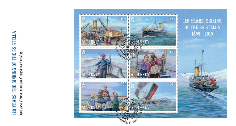 Stamps commemorate sinking of SS Stella 120 years ago