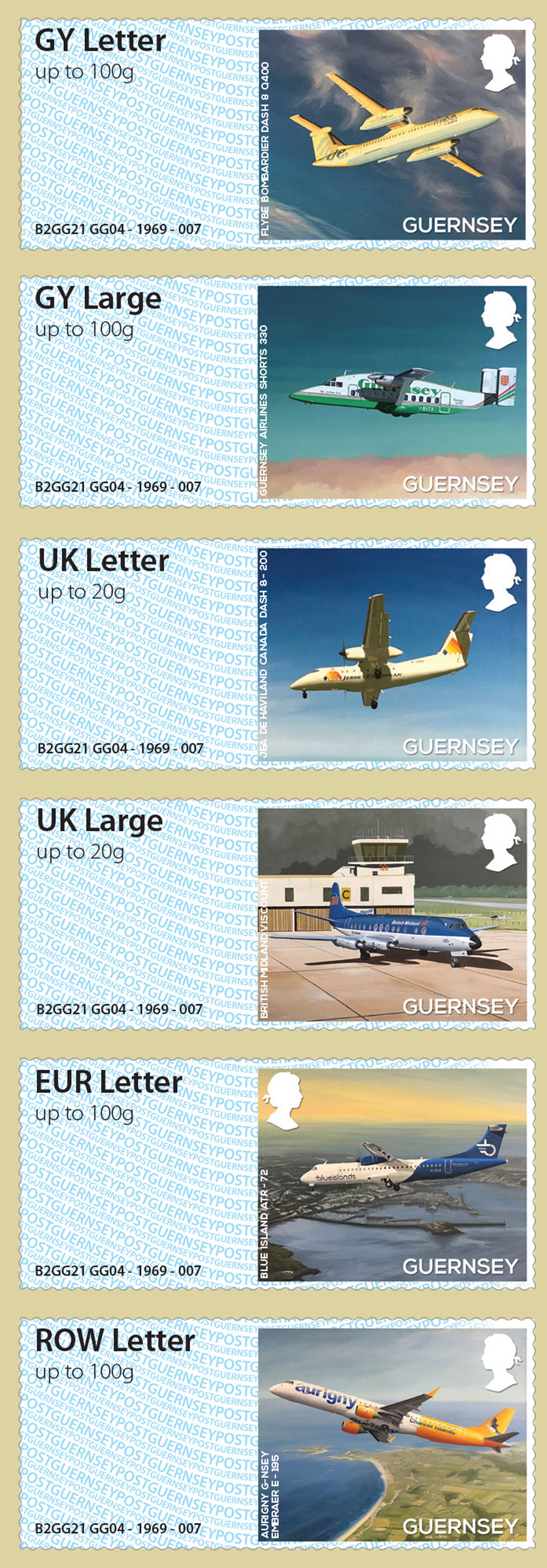 Guernsey Post and Go stamps depict well known Bailiwick aircraft