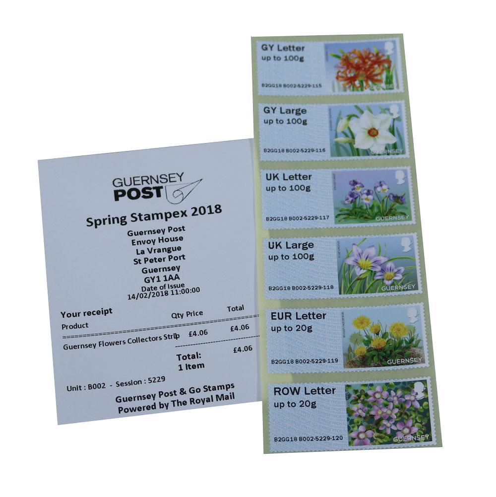 根西岛2月14日发行花卉电子邮票