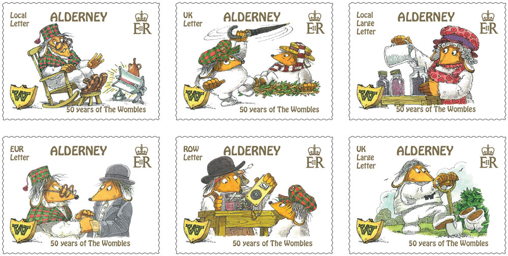 Stamps depict Wombles to celebrate book's 50th Anniversary