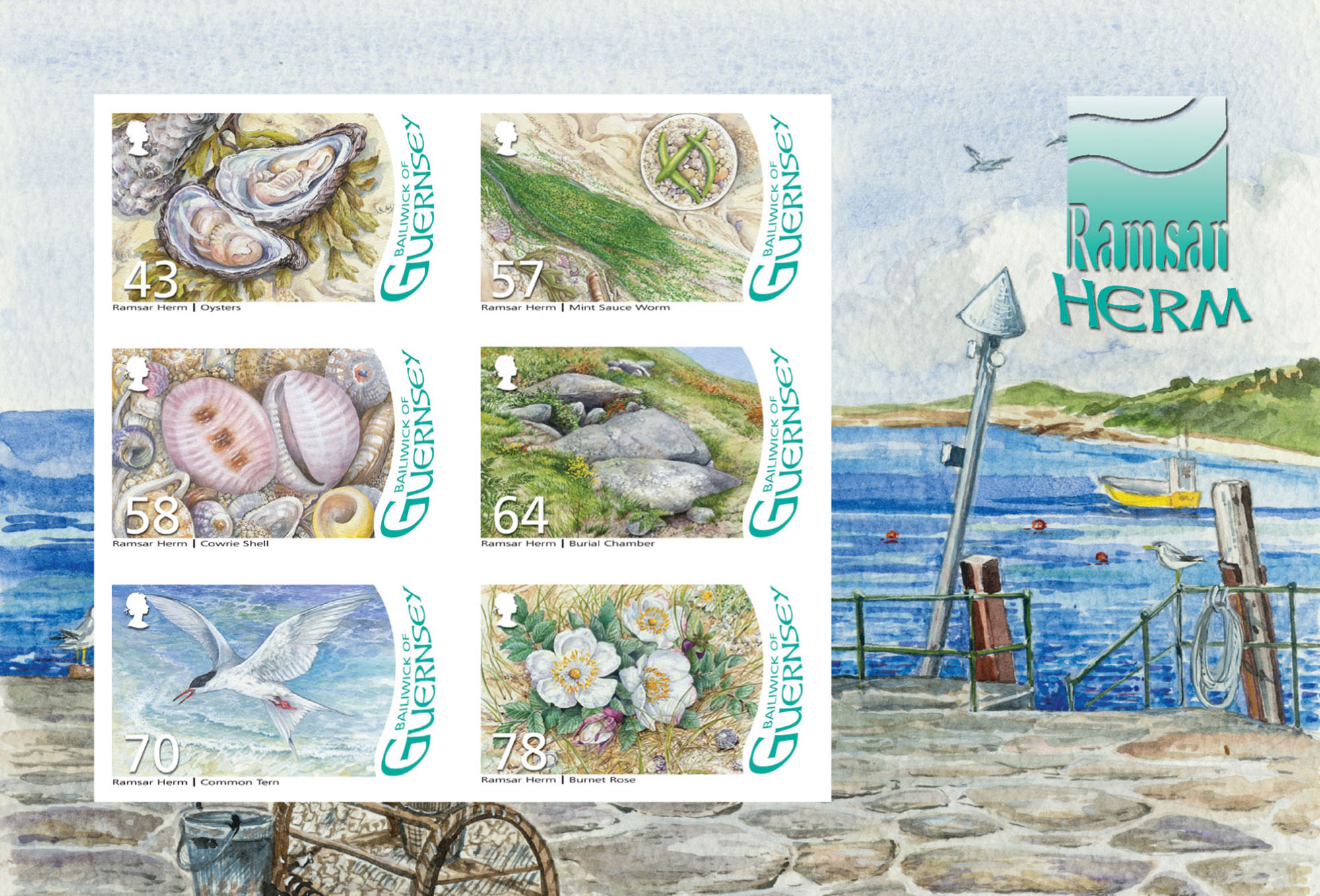 Augmented Reality stamps mark formal designation of Herm, Jethou and The Humps