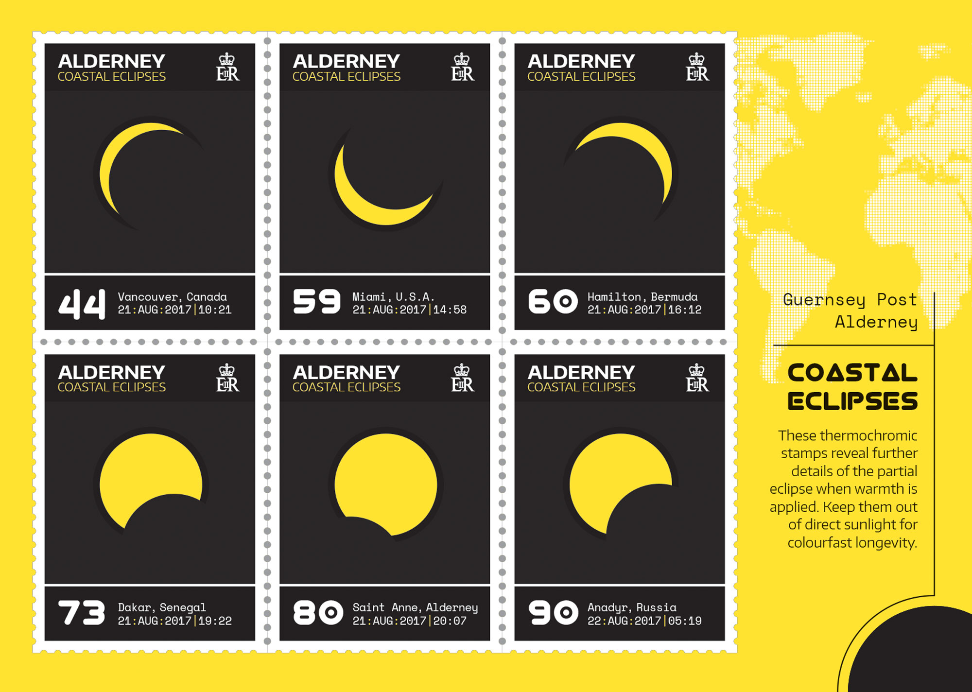 Guernsey Post celebrates total eclipse with image-changing stamps