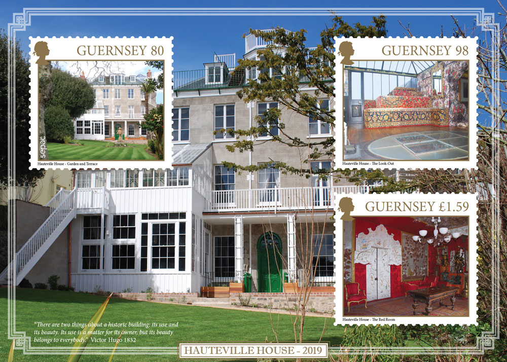 Guernsey Stamps to depict Victor Hugo's former home
