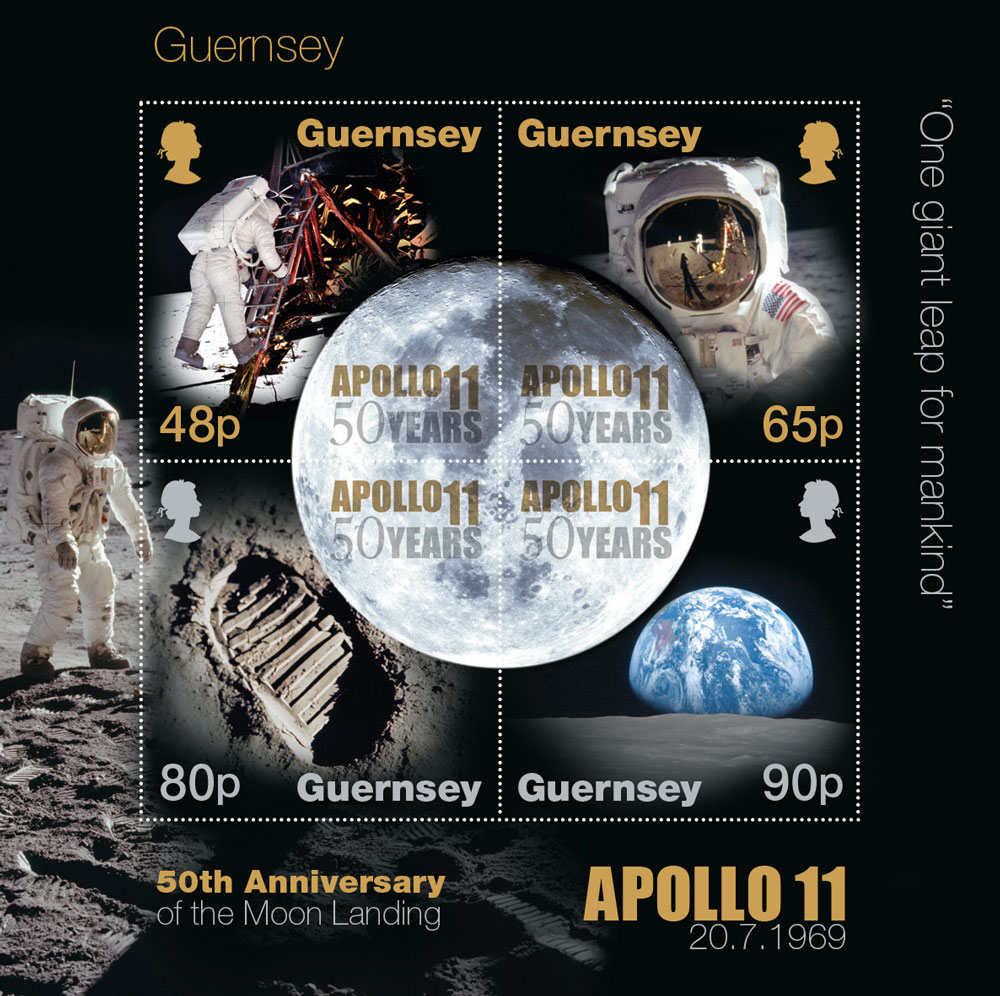 50th Anniversary of the Moon Landings celebrated on stamps