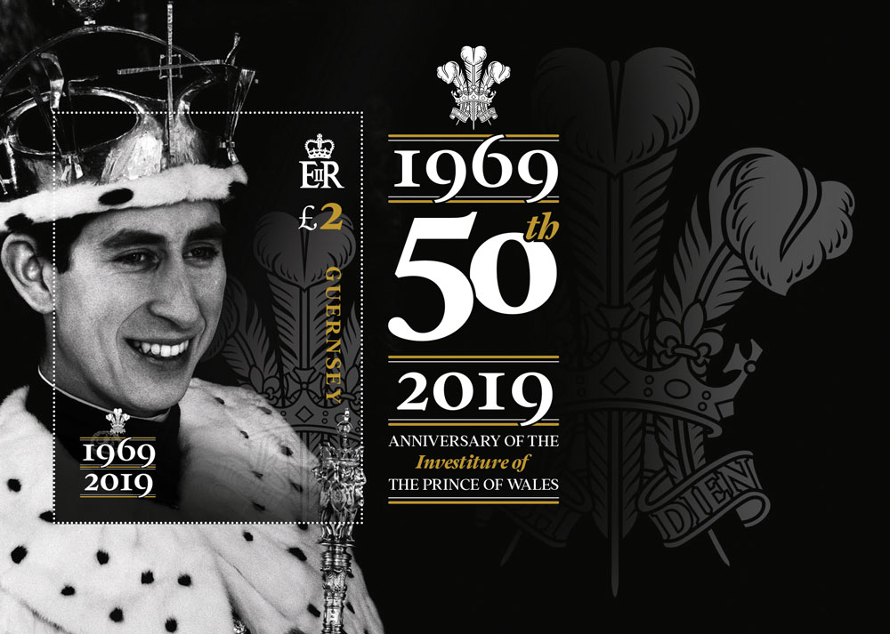 Commemorative stamp to mark 50th Anniversary of HRH The Prince of Wales's Investiture