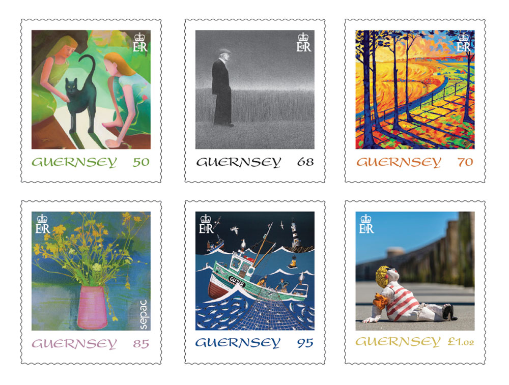 Guernsey artists' work depicted on stamps