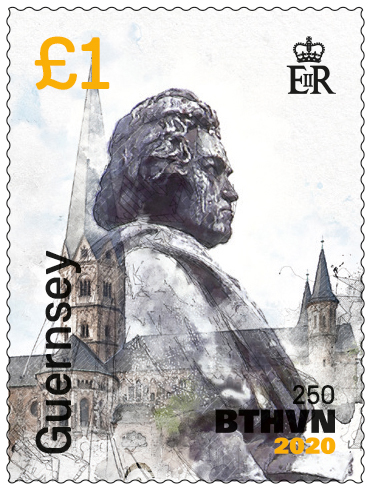 Guernsey to issue third commemorative stamp for Beethoven's 250th Anniversary