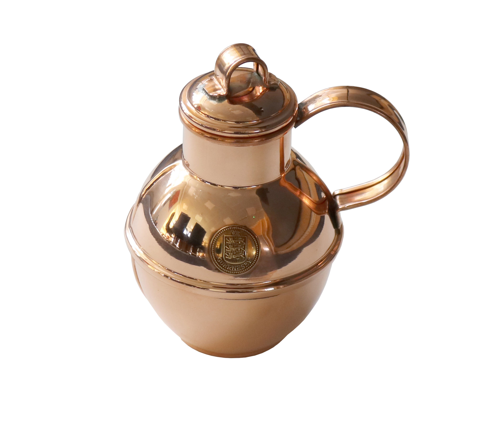 Traditional Handmade Guernsey Copper Milk Can