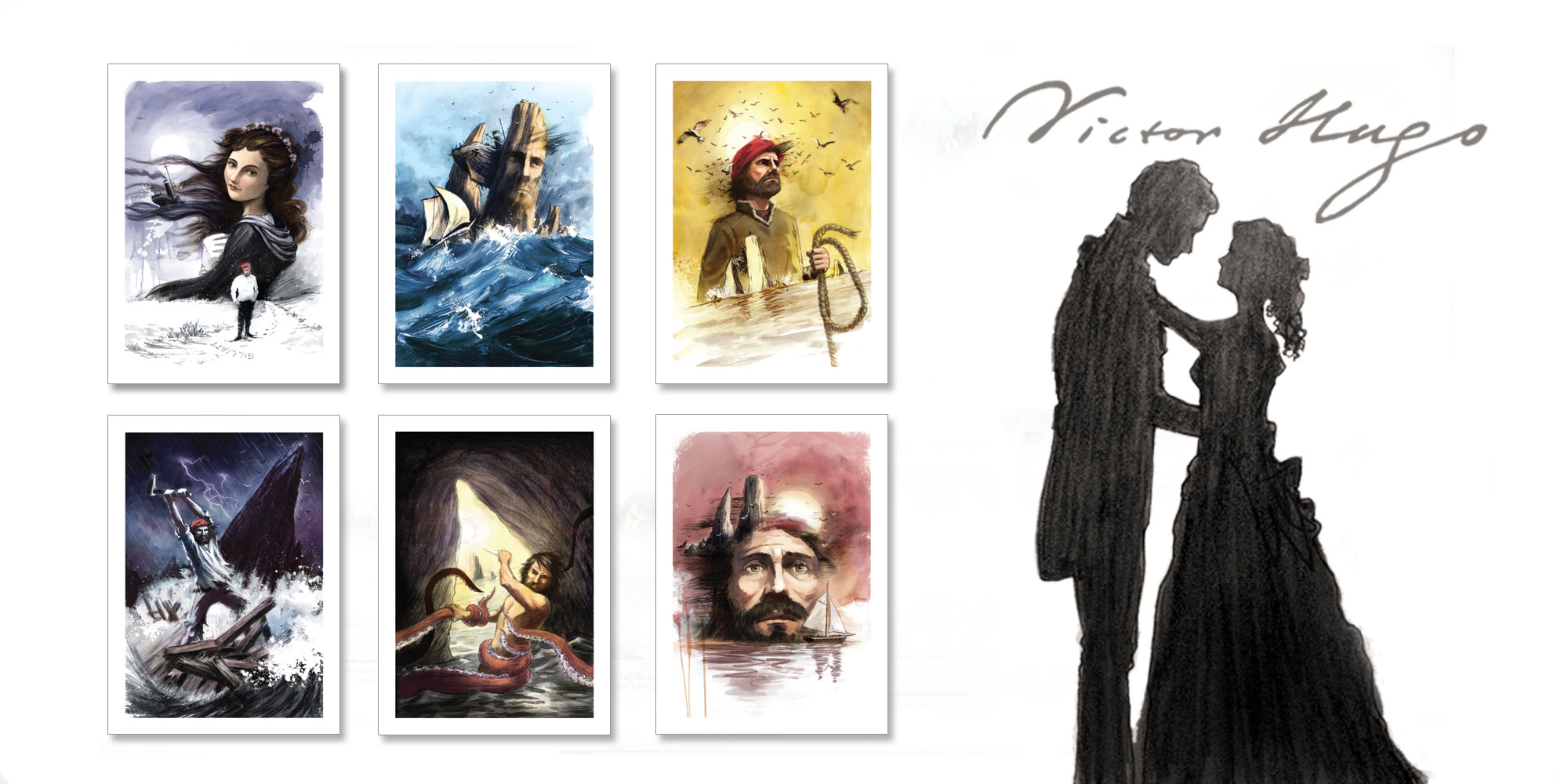 Stamps mark 150th Anniversary of Victor Hugo's Toilers of the Sea