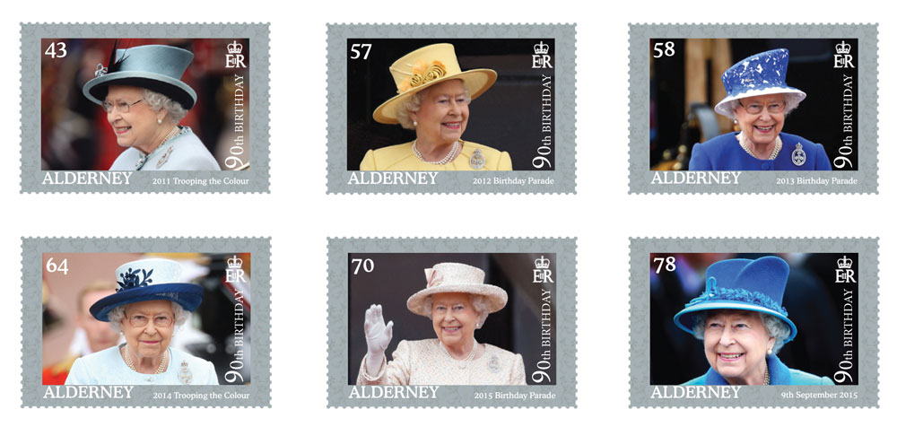 Guernsey celebrates The Queen's 90th Birthday with stamps